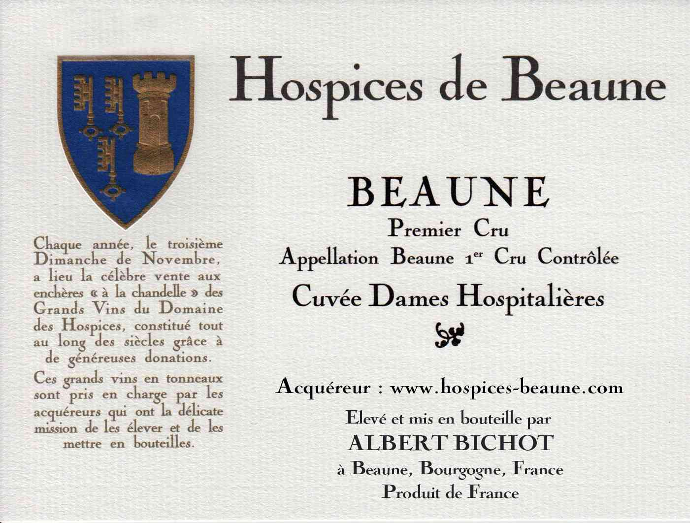 Encheres-auction-HospicesdeBeaune-AlbertBichot-Beaune1erCru-Cuvee-DamesHospitalieres