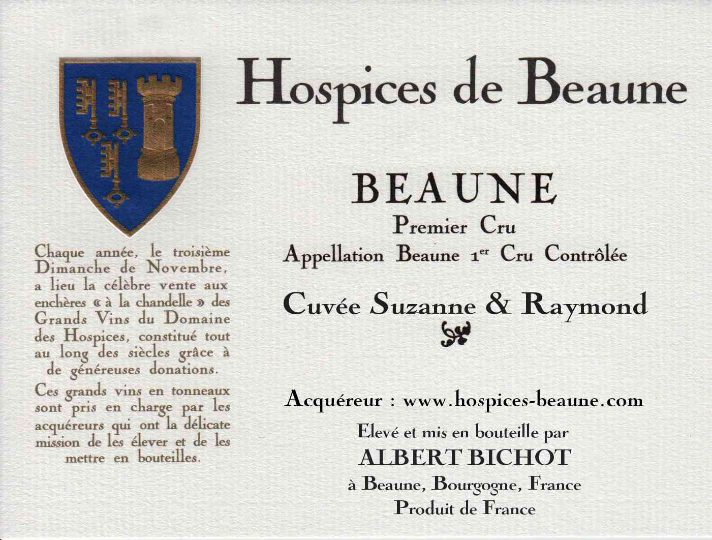 Encheres-auction-HospicesdeBeaune-AlbertBichot-Beaune1erCru-Cuvee-Suzanne-Raymond