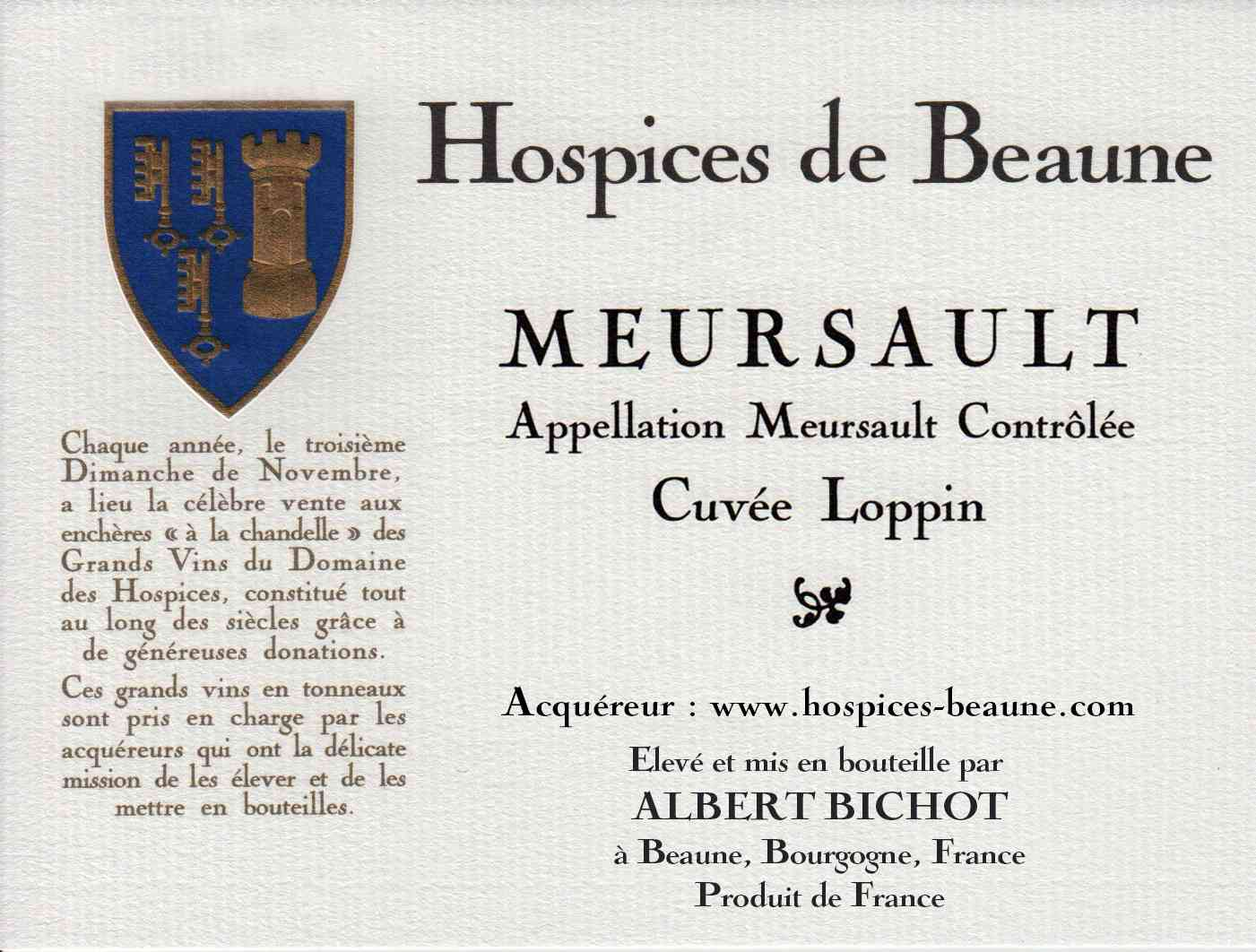 Encheres-auction-HospicesdeBeaune-AlbertBichot-Meursault-Cuvee-Loppin