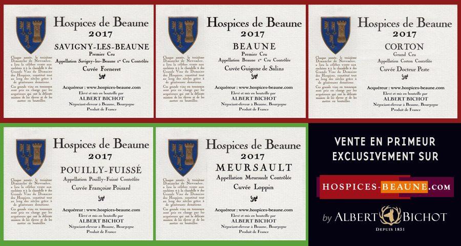 Acheter 5 vins aux enchères des Hospices de Beaune millésime 2017 avec Albert Bichot