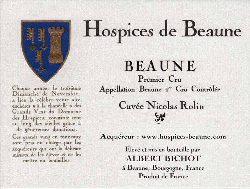 Encheres-auction-HospicesdeBeaune-AlbertBichot-Beaune1erCru-Cuvee-NicolasRollin